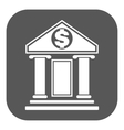 The bank icon Banking and finance symbol Flat vector image