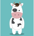 cute cow animal farm isolated icon design vector image