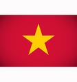 National flag of Vietnam vector image