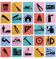 Collection flat icons with long shadow vector image vector image