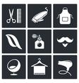 Hair salon icon collection vector image