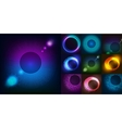 Huge set of glowing rounds with glitter Abstract vector image
