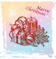 new year vintage card vector image
