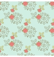 Seamless Pattern Roses On Blue vector image