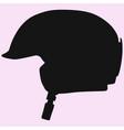 ski helmet vector image