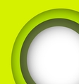 Abstract green background with copy space vector image