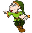Green Dwarf Walking vector image vector image