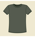 Blank gray t-shirt template vector image vector image