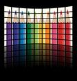 lcd tv panels - rainbow crayons vector image