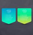 Two Pricing Tables vector image vector image