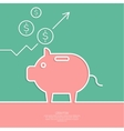 Icon Pig piggy bank vector image