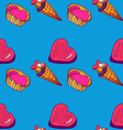 seamless pattern with sweets-3 vector image