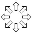 Explode Arrows Thin Line Icon vector image