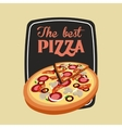 Pizza icon Fast food design graphic vector image