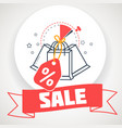 banner on sale i packages vector image