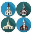 Church Flat Set vector image