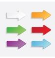 color arrows set vector image