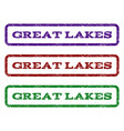 great lakes watermark stamp vector image