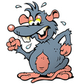 Hand-drawn of an angry upset Rat vector image