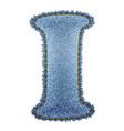 Jeans alphabet Denim letter I vector image