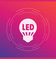 led light bulb icon energy saving technology vector image