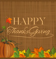 thanksgiving day background design vector image