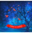 Winter Night Card vector image