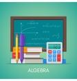 Algebra math science education concept vector image