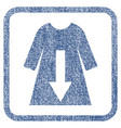 download female dress fabric textured icon vector image