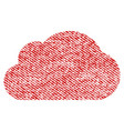 cloud fabric textured icon vector image