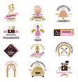 Wedding photo or event agency logo badge camera vector image