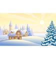 Christmas morning vector image vector image