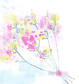 Floral watercolor abstract background for the card vector image