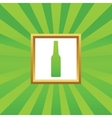 Bottle picture icon vector image vector image