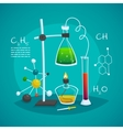 Chemical Laboratory Workspace Design Concept vector image