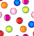 Seamless glossy colorful circle with shadow vector image