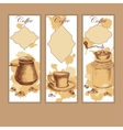 Set of coffee banners with frames vector image