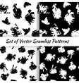 Set of decorative graphic seamless patterns with vector image