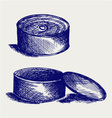Tin can vector image