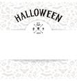 White Paper Sheet on Light Halloween Background vector image