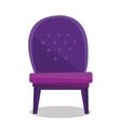 Luxurious vintage armchair vector image