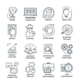 Coworking Monochrome Linear Icons vector image