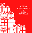 xmas gift card red vector image vector image