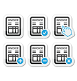 Invoice finance icons set vector image