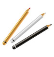 makeup cosmetics eyeliner or brows mascara pencils vector image vector image
