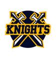logo knights swords cross vector image vector image