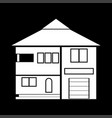 house white color icon vector image vector image