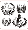 Bodybuilding and Fitness - vector image