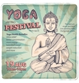 Vintage with a meditation pose vector image