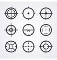 AIM crosshair set icons vector image